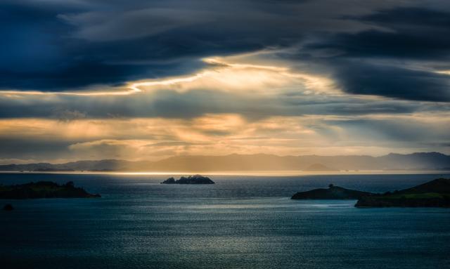 Sunrise over the Coromandel