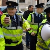 Police Officers under Pressure at Protest