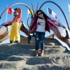 """My Wife in Shediac again, on the """"World's Largest Lobster"""""""