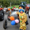Clown with her Vintage Tractor