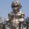 Funny metal people sculpture In Beijing China