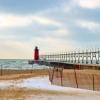 Lake Michigan In February
