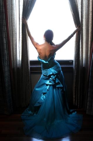 Dina At The window