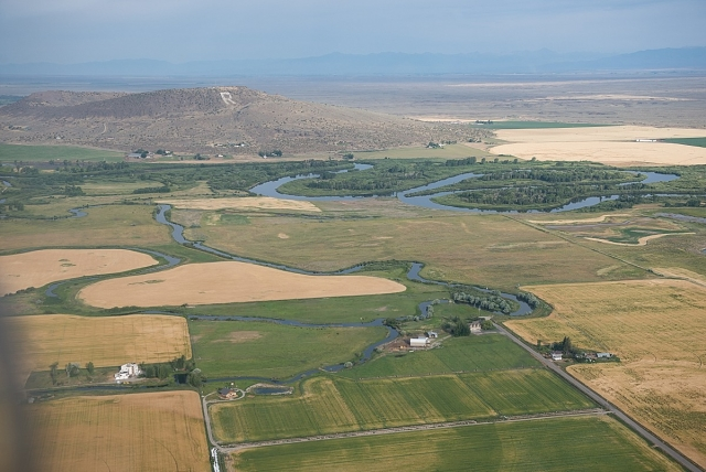 Menan butte from the air