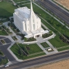 Mormon temple in Rexburg, Idaho