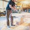 Timber framer at work