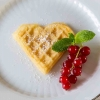 homemade waffle heart