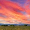 Rocky Mountain Foothills Sunset