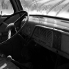 Dashboard of a 53 Ford