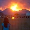 Las Vegas Fire at Sunset