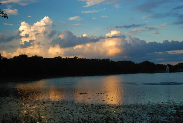 Sky and Clouds over Lake Valencia - Alden