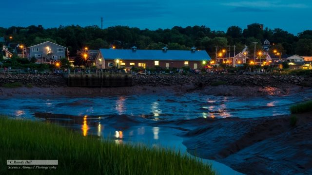 Wolfville from the MudFlats ©C.R.Hill