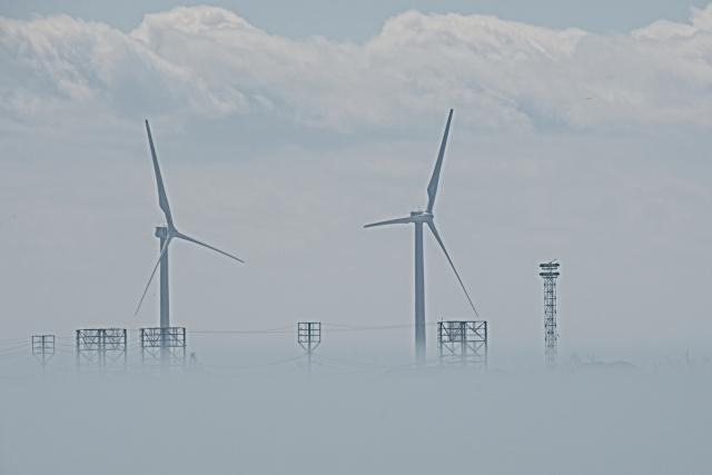 Low Fog at Buffalo Harbor
