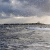 Coquet Island Via wave And rain