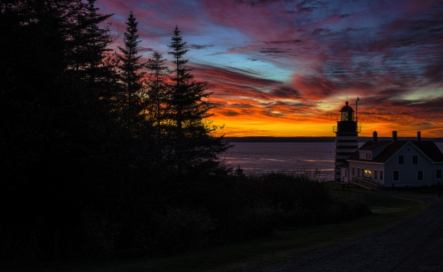 Pre Dawn Light at West Quoddy Head Lighthouse