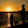 Fishing At Sunset, Inskip Point, Qld, Australia (resized)