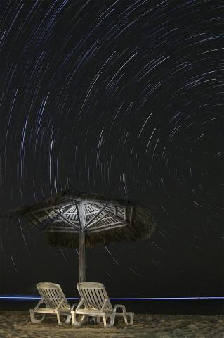 Cuban Cabana Star Trails