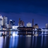 Downtown Toledo Ohio City Lights