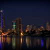 Surfers Paradise City At Night