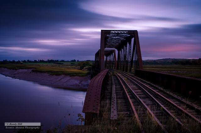 Old Steel Train Bridge ©C.R.Hill