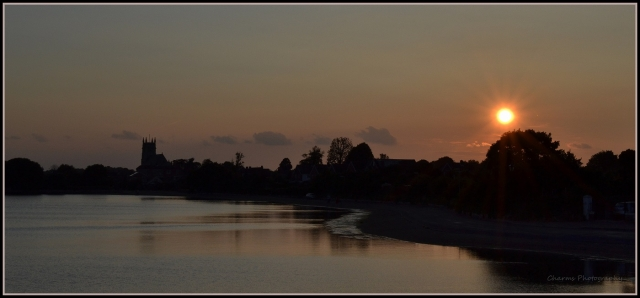 Sunset over Alverstoke lake