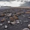 Iceland, black sand beach
