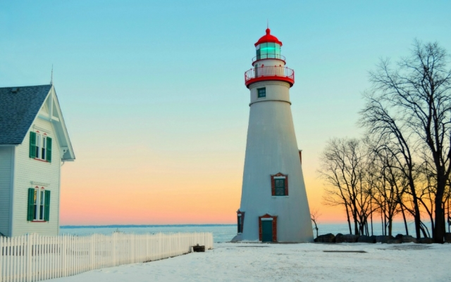 Lake Erie Sunrise at Marblehead Lighthouse