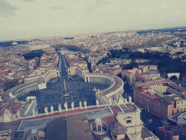 Sky View St. Peter's Basilica - Vatican City