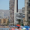Benidorm Sea Front and Beach Parasol